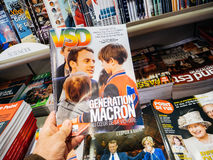 UtvecklingsMacron VSD tidskrift Frankrike Royaltyfria Foton