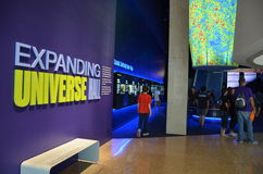 Utvidgande universum Hall på det Perot museet Royaltyfri Foto