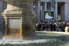 Uudience Папы на квадрате ` s St Peter в Ватикане Стоковые Фотографии RF