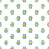 24 uur op 24 uur het patroon van de telefoonsteun Royalty-vrije Stock Afbeelding