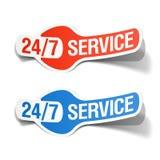 24 uur per dag de dienststicker Royalty-vrije Stock Afbeeldingen