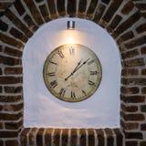 Is uur van het de klokdetail van de kloktijd de oude tijdgeld Royalty-vrije Stock Afbeelding