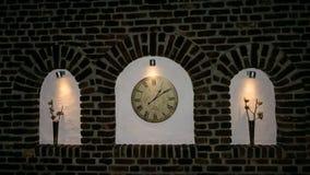 Is uur van het de klokdetail van de kloktijd de oude tijdgeld Royalty-vrije Stock Foto's