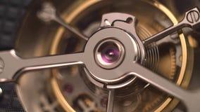 Uurwerkmechanisme met Juwelen stock footage