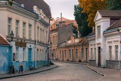Uus street in Tallinn, Estonia Stock Photo
