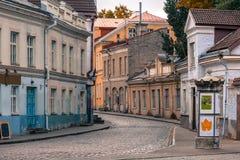 Uus street in Tallinn, Estonia Royalty Free Stock Photography
