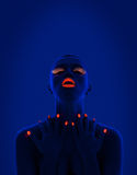 UV πορτρέτο Στοκ Εικόνες