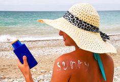 UV προστασία Στοκ Εικόνες