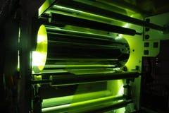 UV πλαστική ταινία επιστρώματος στοκ εικόνες