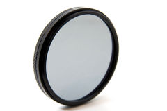 UV Camera Filter. Isolated to white background with a little shade to the bottom Royalty Free Stock Photo