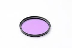 UV filter för kameralins Arkivbilder