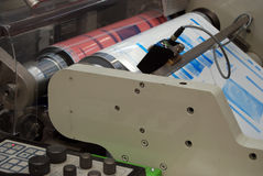 UV flexo press printing. UV flexo press for printing label. Flexography (also called surface printing), often abbreviated to flexo, is a method of printing most royalty free stock photos