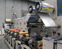 UV flexo press printing Stock Photography