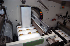 UV flexo press printing. UV flexo press for printing label. Flexography (also called surface printing), often abbreviated to flexo, is a method of printing most stock photos