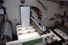 UV flexo press printing stock photos