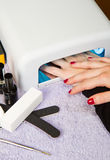 Uv lamp for nails Stock Image