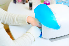 Uv lamp for nails Royalty Free Stock Image