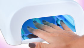 Uv lamp for nails Royalty Free Stock Photography
