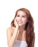 UV omsorg och härlig kvinnaframsida Royaltyfria Foton