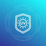 UV protection line icon, vector symbol Royalty Free Stock Image