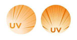 Uv protection logo and icon , ultraviolet  Royalty Free Stock Photography