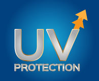 Uv protection logo , silver uv Stock Image
