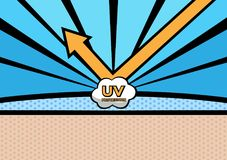 Uv protection  , skin. / blue background Royalty Free Stock Photos
