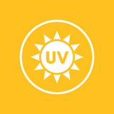 UV radiation icon in circle Royalty Free Stock Photos
