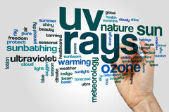 UV rays word cloud. Concept Royalty Free Stock Photos