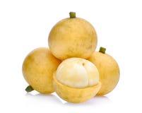 Uva birmana, frutta tropicale isolata su bianco fotografia stock