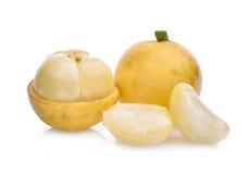 Uva birmana, frutta tropicale isolata su bianco Immagini Stock