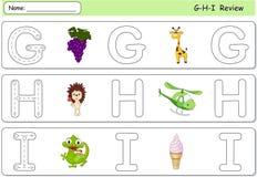 Uva del fumetto, giraffa, istrice, elicottero, gelato e igu Fotografia Stock Libera da Diritti