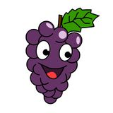 Uva del fumetto Illustrazione della frutta del fumetto di vettore illustrazione vettoriale