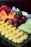 Uva dell'ananas sbucciata frutta asiatica fresca Fotografie Stock Libere da Diritti