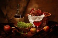 Uva e maçãs Imagens de Stock