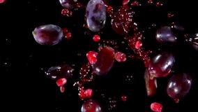Uva e melograni con succo archivi video