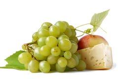 Uva e queijo Fotografia de Stock