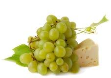 Uva e queijo Imagem de Stock