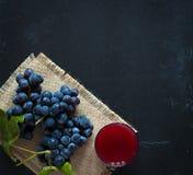 Uva e suco escuros Imagem de Stock Royalty Free