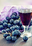 Uva e vino Immagini Stock
