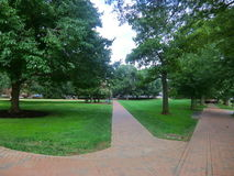 UVA Grounds. University of Virginia Grounds, Charlottesville, Virginia. picture taken during summer Royalty Free Stock Image