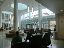 UVA Hospital reception and waiting area. University of Virginia, Charlottesville, Virginia stock image