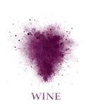 Uva para vinho abstrata ilustração do vetor