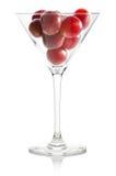 Uva rossa in un vetro Immagine Stock