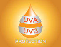 Uva , uvb protection logo Stock Images