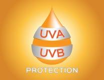 Uva , uvb protection logo Stock Images
