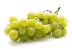 Uva verde isolata su bianco Immagine Stock Libera da Diritti