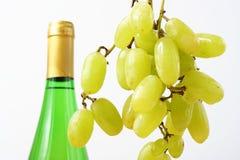 Uva y vino Fotografía de archivo