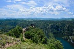 Uvac-Fluss-Schlucht Stockfoto