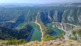 Uvac river, Serbia. Meanders of the Uvac river, Serbia stock image